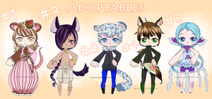 Adoptables Auction [CLOSED] by Kuumone