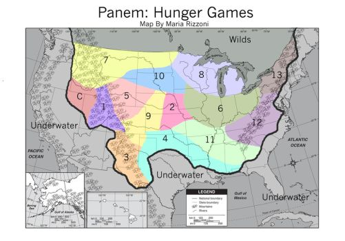 Hunger Games: Map of Panem by ilovezuko123