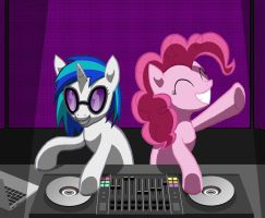 Vinyl and Pinkie DJing by dannylim86