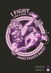 Commission - 'Fight Like a Girl' T-Shirt by anderpeich