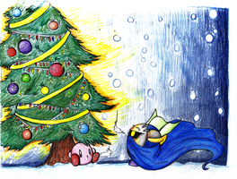 a kirby christmas by metamorro