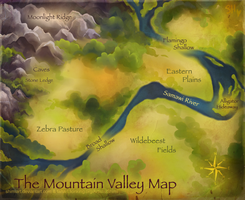 Concept Art - The Mountain Valley Map by ShimiArt