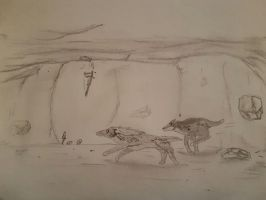 Caving adventures Abena and Daddy Wintergrasp 3 by Jackewa