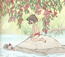 MOWGLI AND BALOO by FERNL