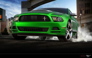 Ford Mustang V6 Green by Paho95
