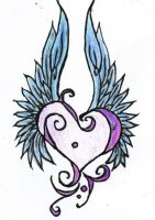 tattoo design: Winged Heart by Lady-Au-Pair