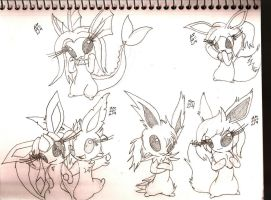 The Rest of my Eevees by neronova