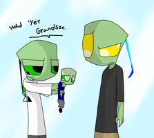 Hold 'yer grandson. by MochiFries