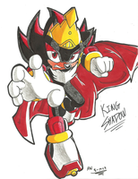 *SONIC OC*:  King Shadow by Armpit-Warrior