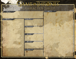 Game of Thrones Character Template by XxBeowulfxX