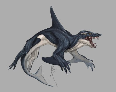 Whalewolf Concept 1 by Hydrothrax