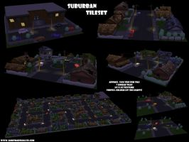 Suburban Tileset by JimmyMarshall