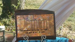 Copper Wood Sign unique patina by artistiquejewelry