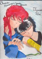 Sleepy Time-Hiei and Kurama by aikou-yami