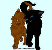 Crowfeather and Leafpool by OneBangBeauty