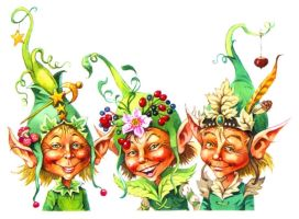 Elves in Extravagent Hats by JohnPatience