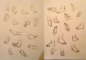Feet practice by Mistling