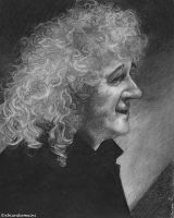 Brian May - portrait with photo reference by DrawnByYou