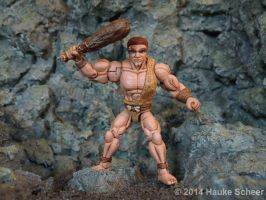 Caveman 3D printed Action Figure painted 05 by hauke3000