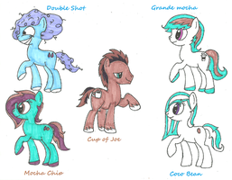 mlp coffee pony point adoptables by Darkwolf222