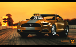 Ford Mustang GT 2015 Drag Setup by OverdozeCreatives