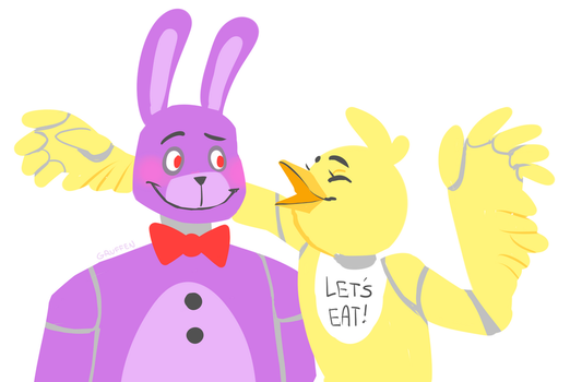 Chica and Bonnie by GruffenDragon