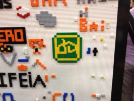 The finished dA LEGO Logo! by LaurenKitsune