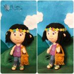 Amigurumi hippie doll by elveawen