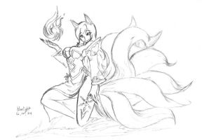 lol ahri lol 2 by bluelightt