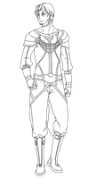 OW: Rowen 4th Outfit Lineart by konrei-sama