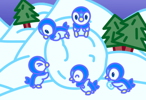 Piplups by doubleosquirtle