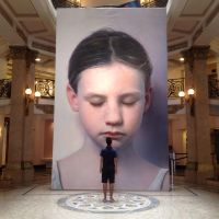 Kindskopf on exhibit in Sao Paolo by gottfriedhelnwein