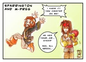 Sparrington and m-preg XD by Bowie-Spawan