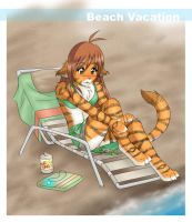 Flora's Vacation at the Beach by Twokinds