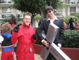 Me Vash with Wolfwood by CycloneX3