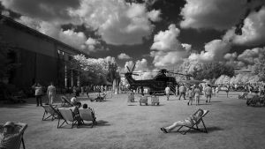 Chancellors Paradise Garden - Infrared by MichiLauke