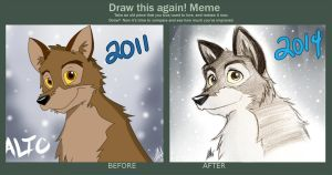 Before And After Meme: Balto 2011-2014 by Smudgeandfrank