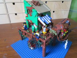 lego MOC Fallout Far harbour front view by kabhes