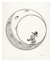 Man on the Moon by OrcOYoyo