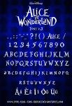 Alice in Wonderland Font by por-que-tan-serio