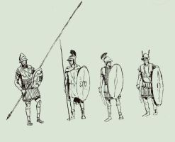 Hellenistic soldiers by TheNicator