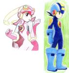 random pics meiru and rockman by ick25