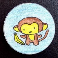Hand Drawn Buttons - Monkey by gippentarp