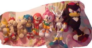 My sonic plushes by Hollsterweelskitty