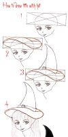 tutorial Little witch hat by lamorghana