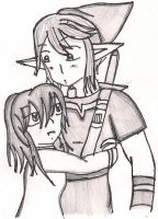 Tay and Link Hugging by AsukiSanNMei