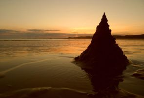 Silhouetted Pyramid by TinaMansellEaton