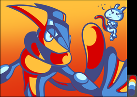 Tumblr Color Meme - Palette #57 - Greninja by JamesmanTheRegenold