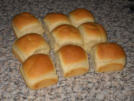Bread rolls by Bisected8