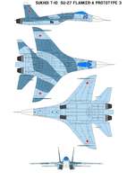 Sukhoi T-10  Su-27 FLANKER-A Prototype 3 by bagera3005